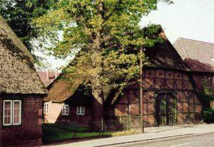 Die Scheune vom Bauernhof Brunckhorst in der Wedeler Landstrasse 45, (1972 abgebrochen) (Foto: John Callies, 1960)